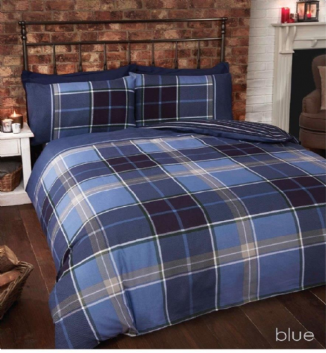 """Argyle"",Blue Tartan,King Size, ""Finest Homeware"" by Rapport"